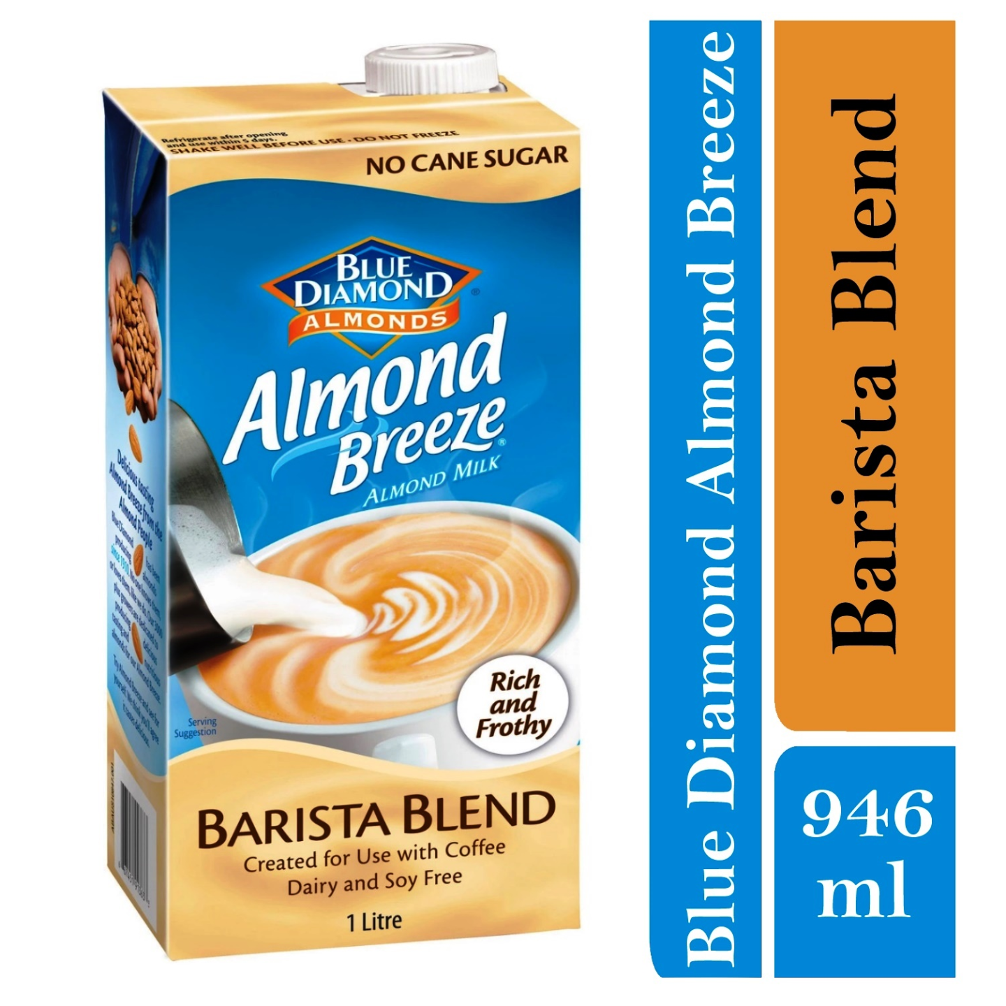 Blue Diamond Unsweetened Almond Breeze Barista 1 X 946ml