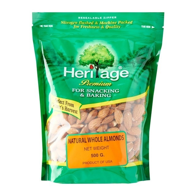 Heritage Raw Whole Almond Nut