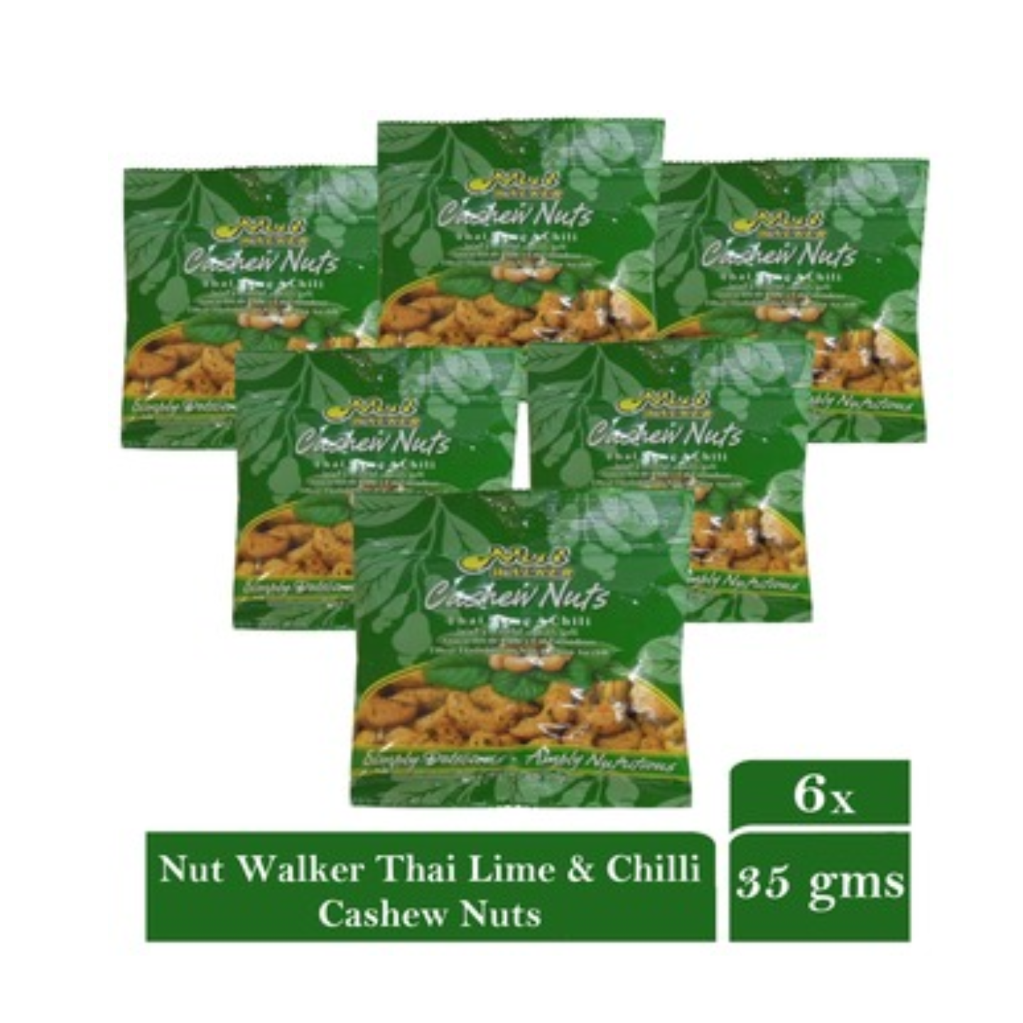 Nut Walker Thai Lime And Chili Cashew Nuts 6 x 35gm