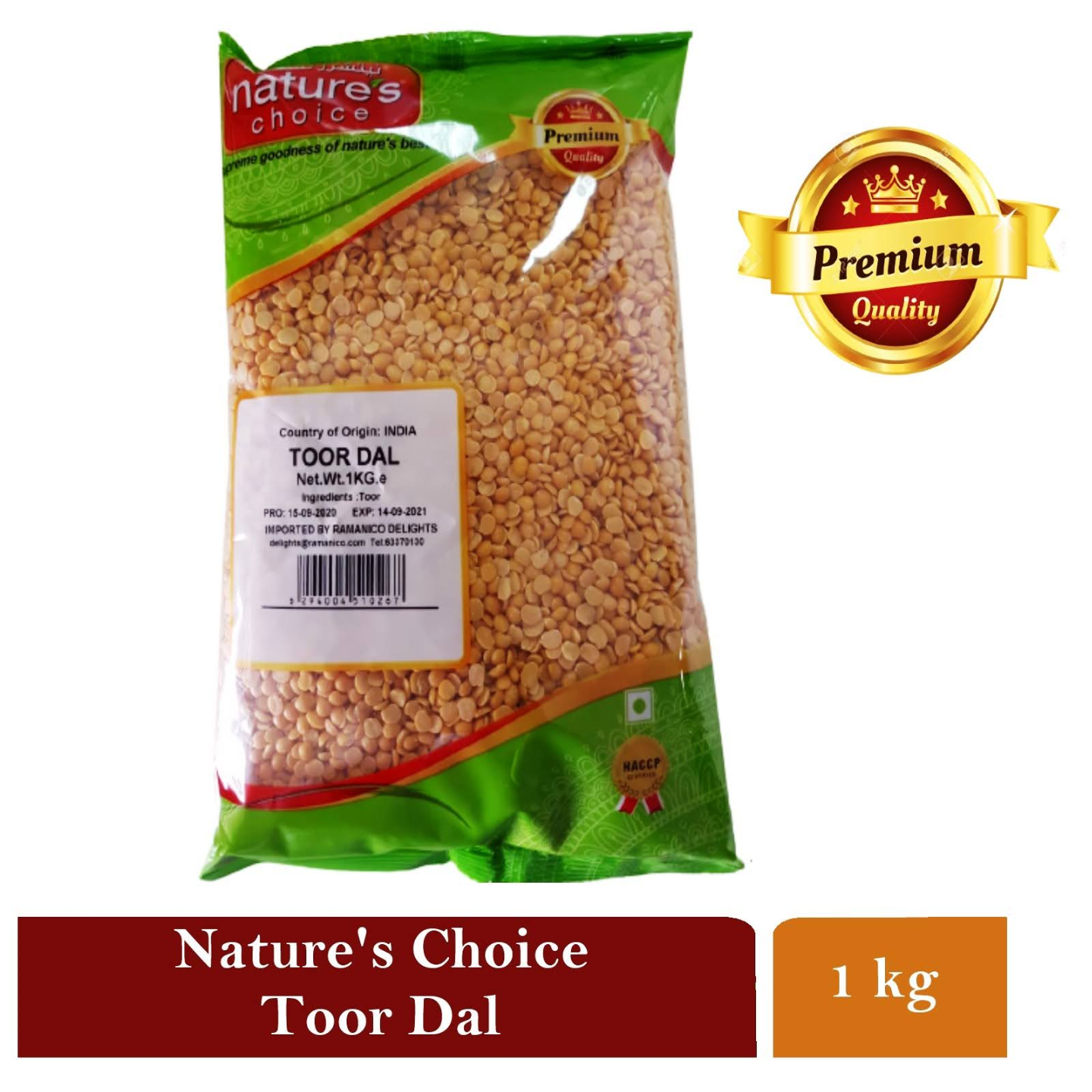 NATURES CHOICE PREMIUM QUALITY TOOR DAL 1 KG