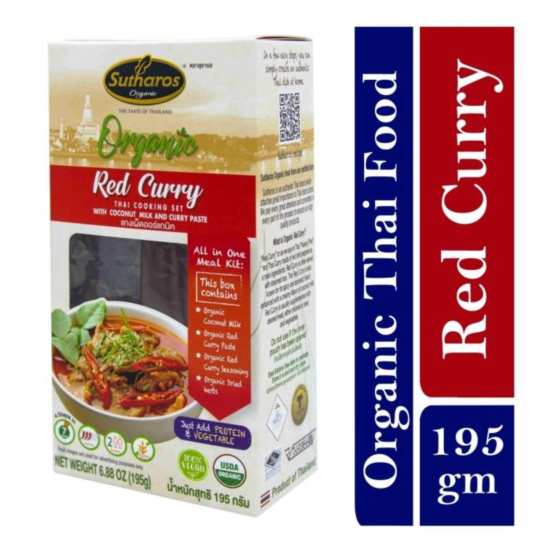 Sutharos Organic Thai Red Curry 1 x 195gm