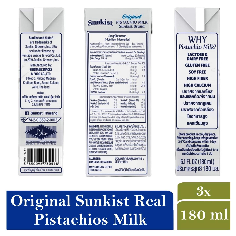 Sunkist Pistachios Milk Original Flavor 180g