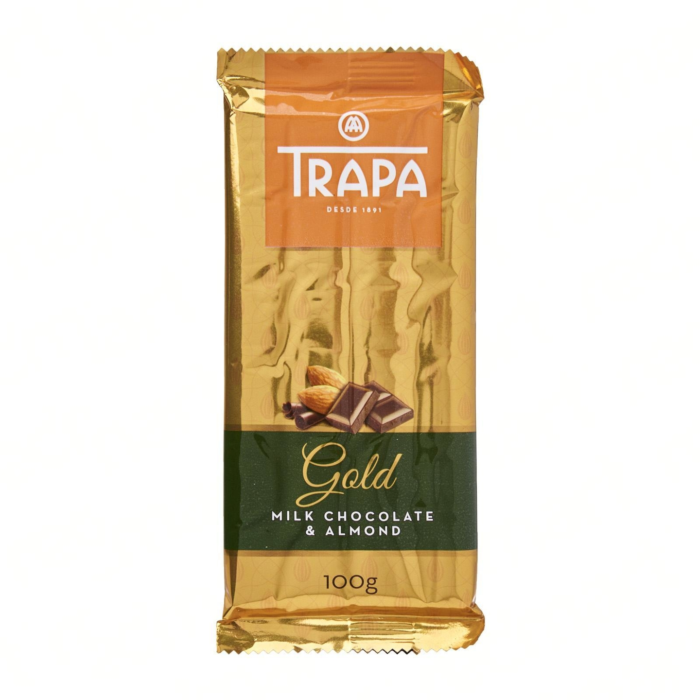 Trapa Gluten Free - Milk Chocolate Bar with Almond