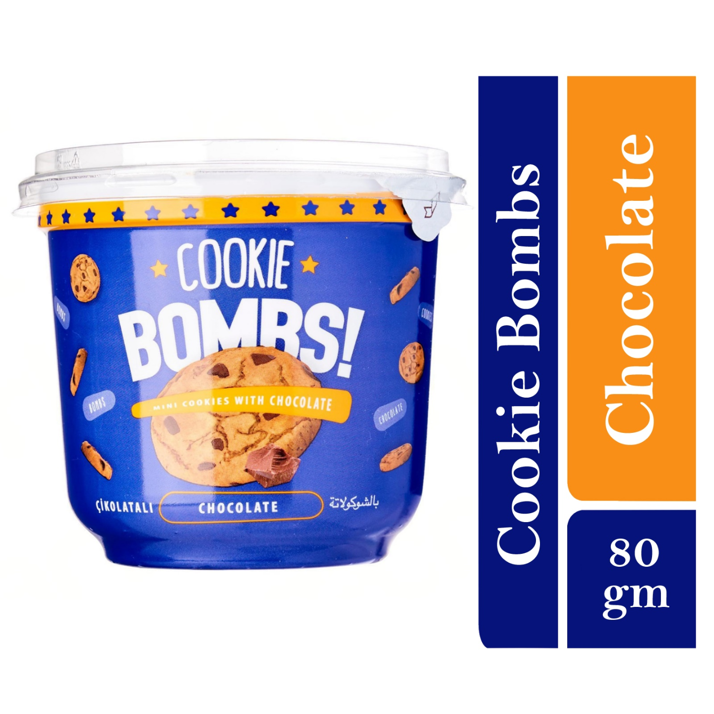 Bombs Mini Cookies with Bitter Chocolate Flavor