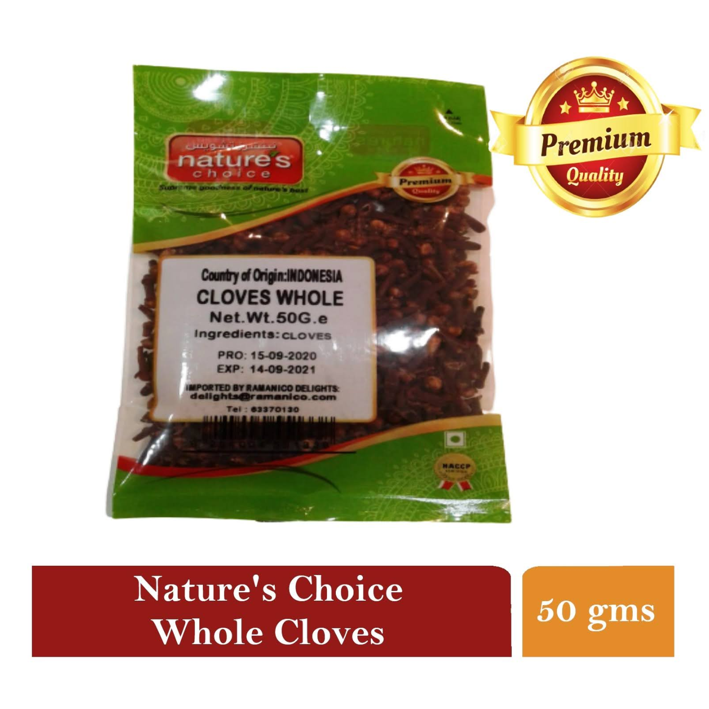 NATURES CHOICE PREMIUM QUALITY WHOLE CLOVES 50G