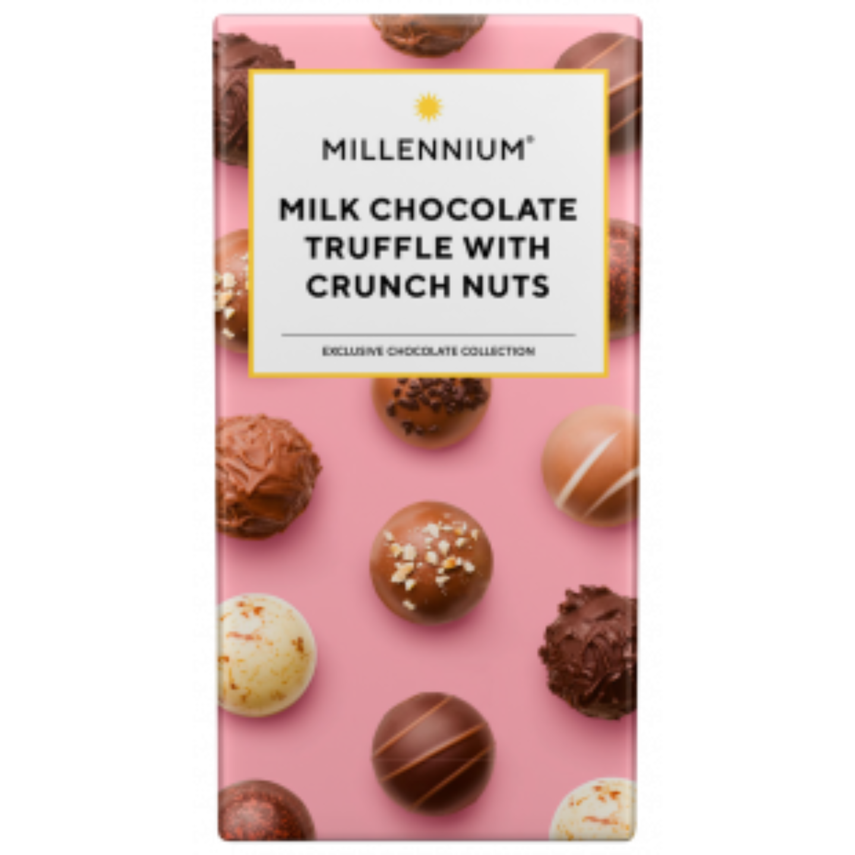 Millennium Milk Chocolate Truffle with Crunch Nuts 100gm