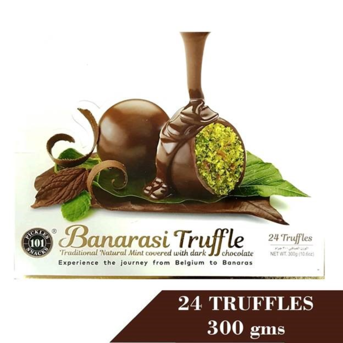 Banarasi Truffle Natural Mint Covered With Dark Chocolate 300G