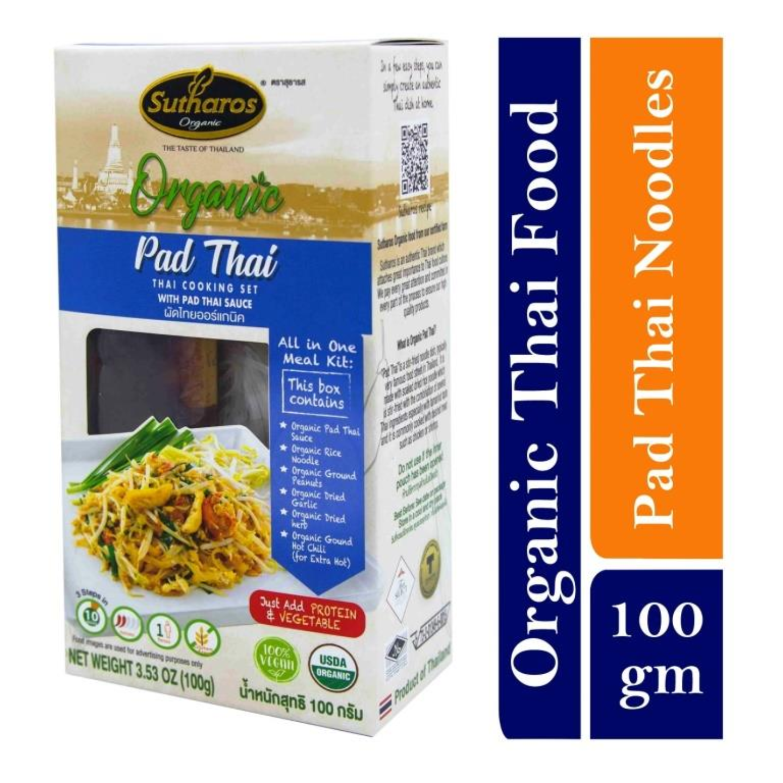 Sutharos Organic Thai Pad Thai Noodles with Pad Thai Sauce 1 x 100gm