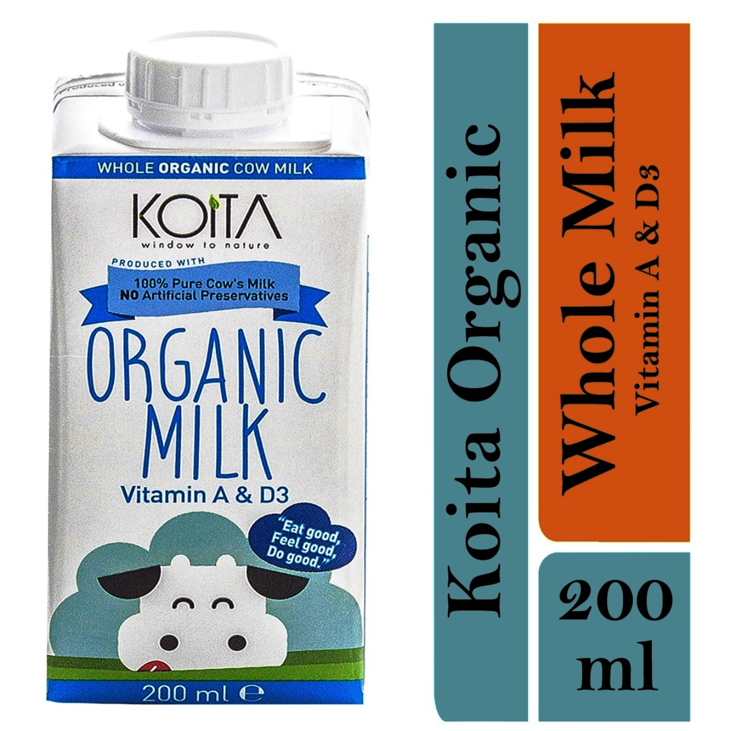 Koita Premium Organic Whole Milk 1 x 200ml