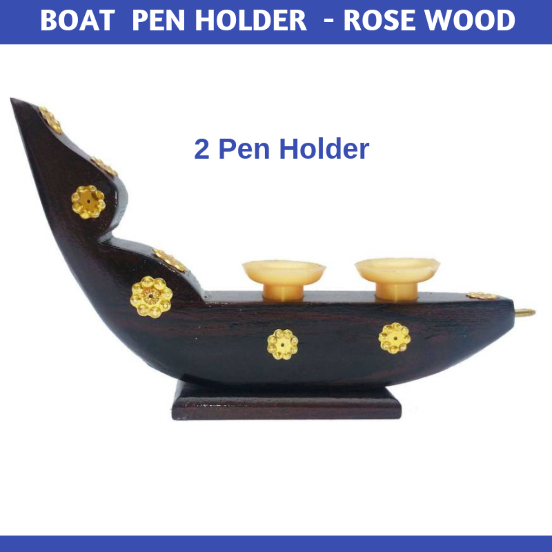 Boat Model Pen Holder - Rosewood