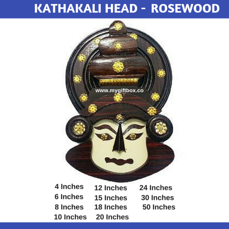 Kathakali Head - Rosewood