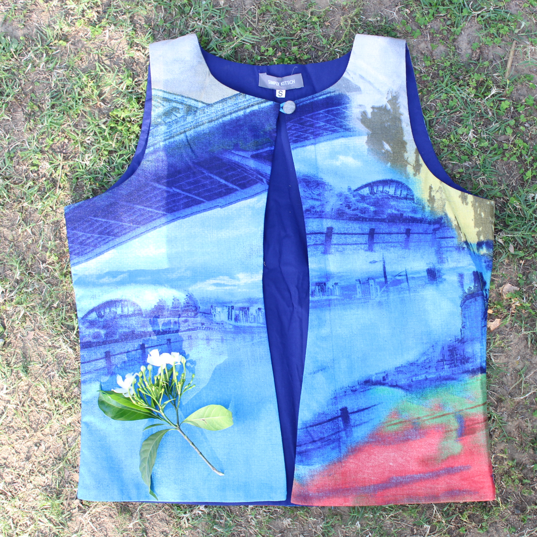 Printed Silk Waistcoat