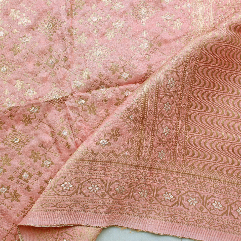 Pink Benarsi Brocade Dupatta/Odhini