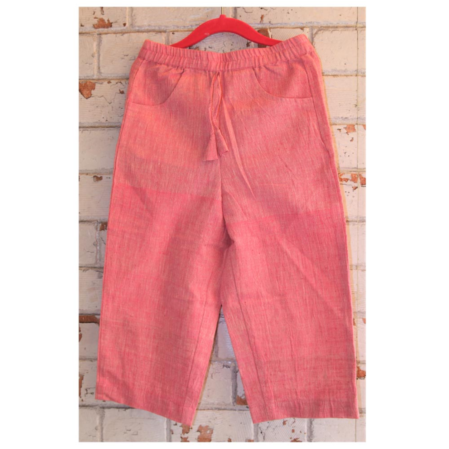 Pink Handloom Kala Cotton Girls Pant