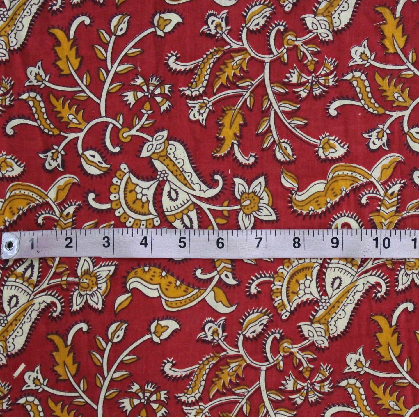 Red Floral Printed Fabric (Rs 150/Meter)