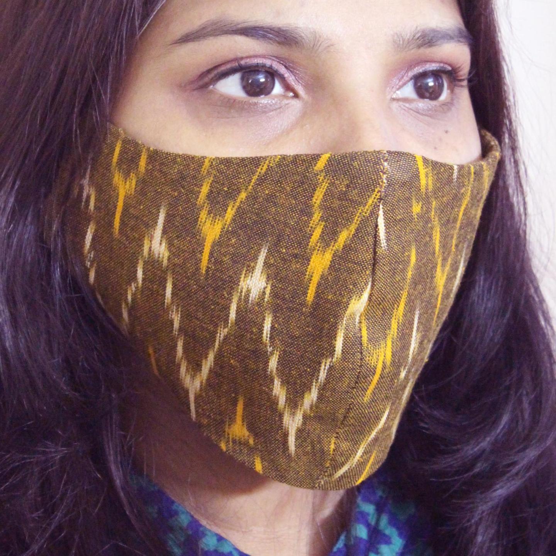 100 Cotton Ikat Reusable Mask Pack of 4