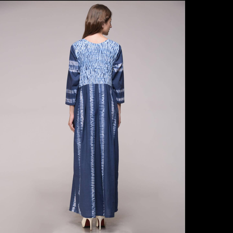 Shibori Pleated Dress