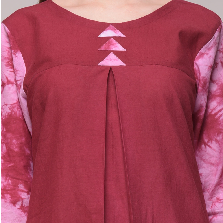 Tie Dye And Applique Dress