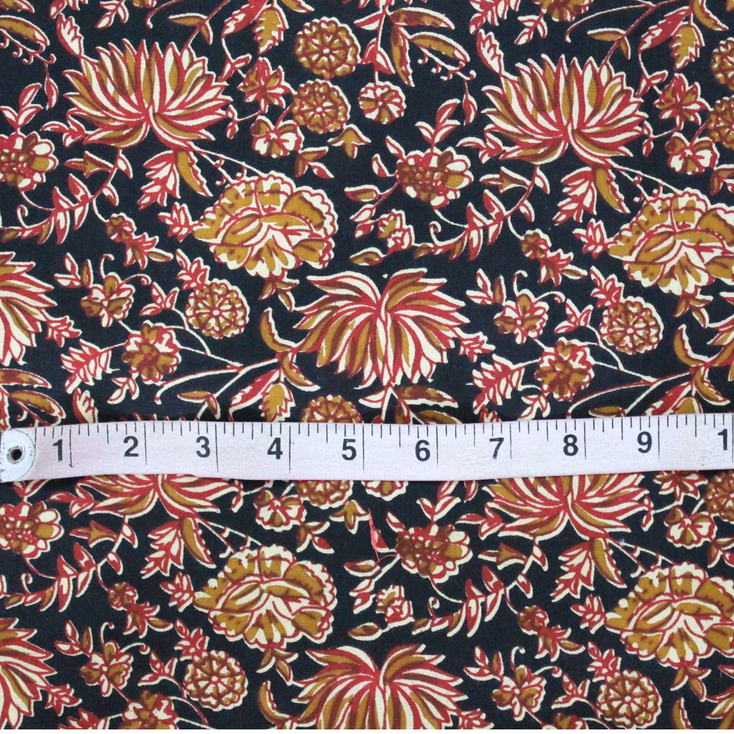 Black Red Floral Printed Fabric Rs 150Meter