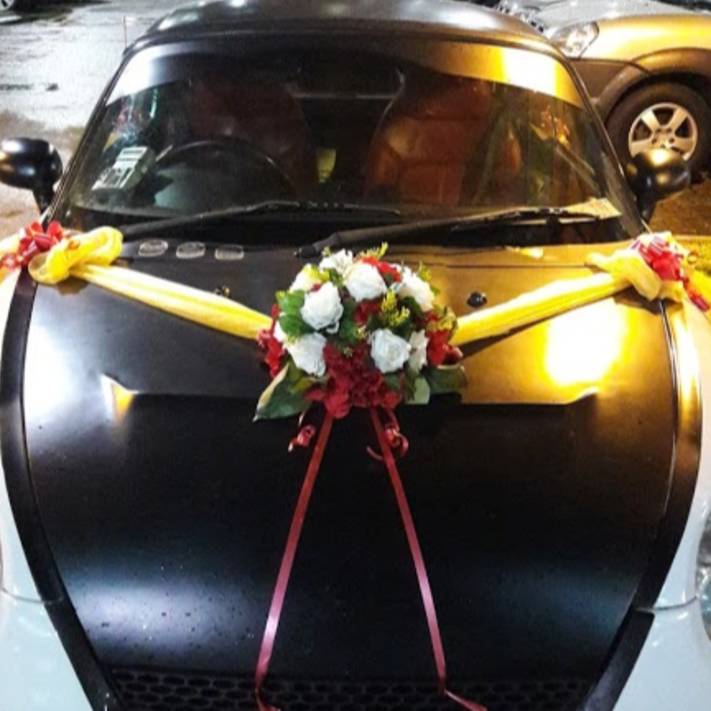 Wedding Car Décor Package 1  Silk + Fresh Florals
