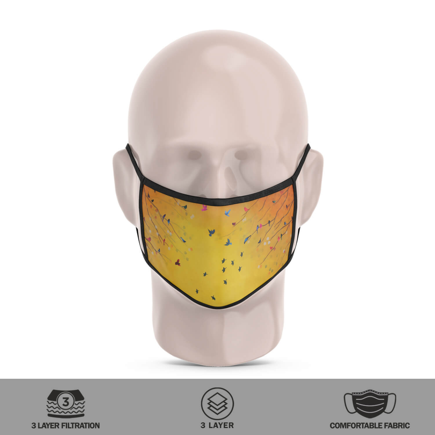 Song from Autumn Reusable Face Mask - Priyanka Waghela