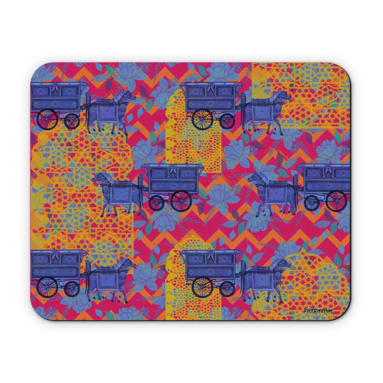 Horse Cart Design Mouse Pad