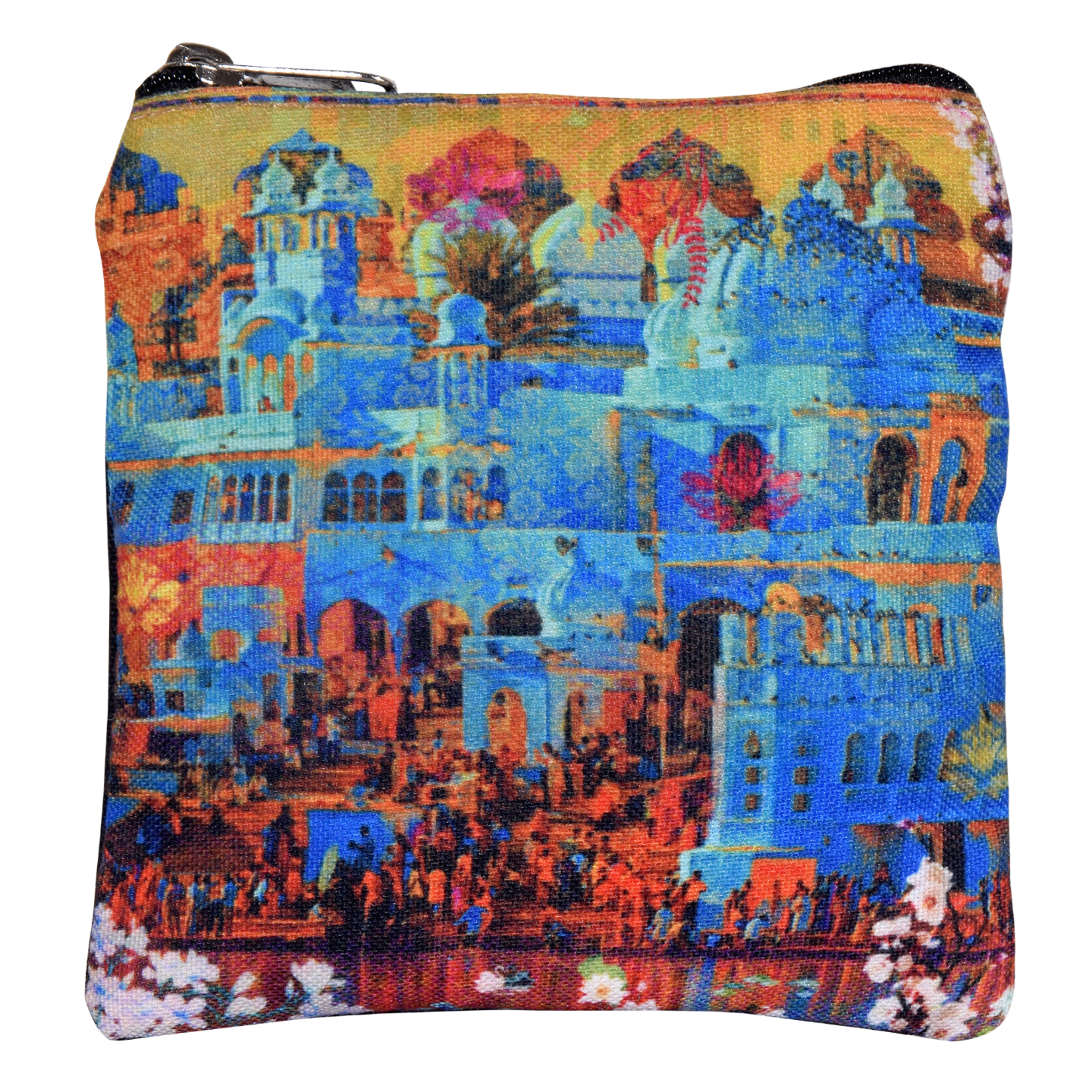 Indian Heritage Poly Canvas Coin Pouch/Purse