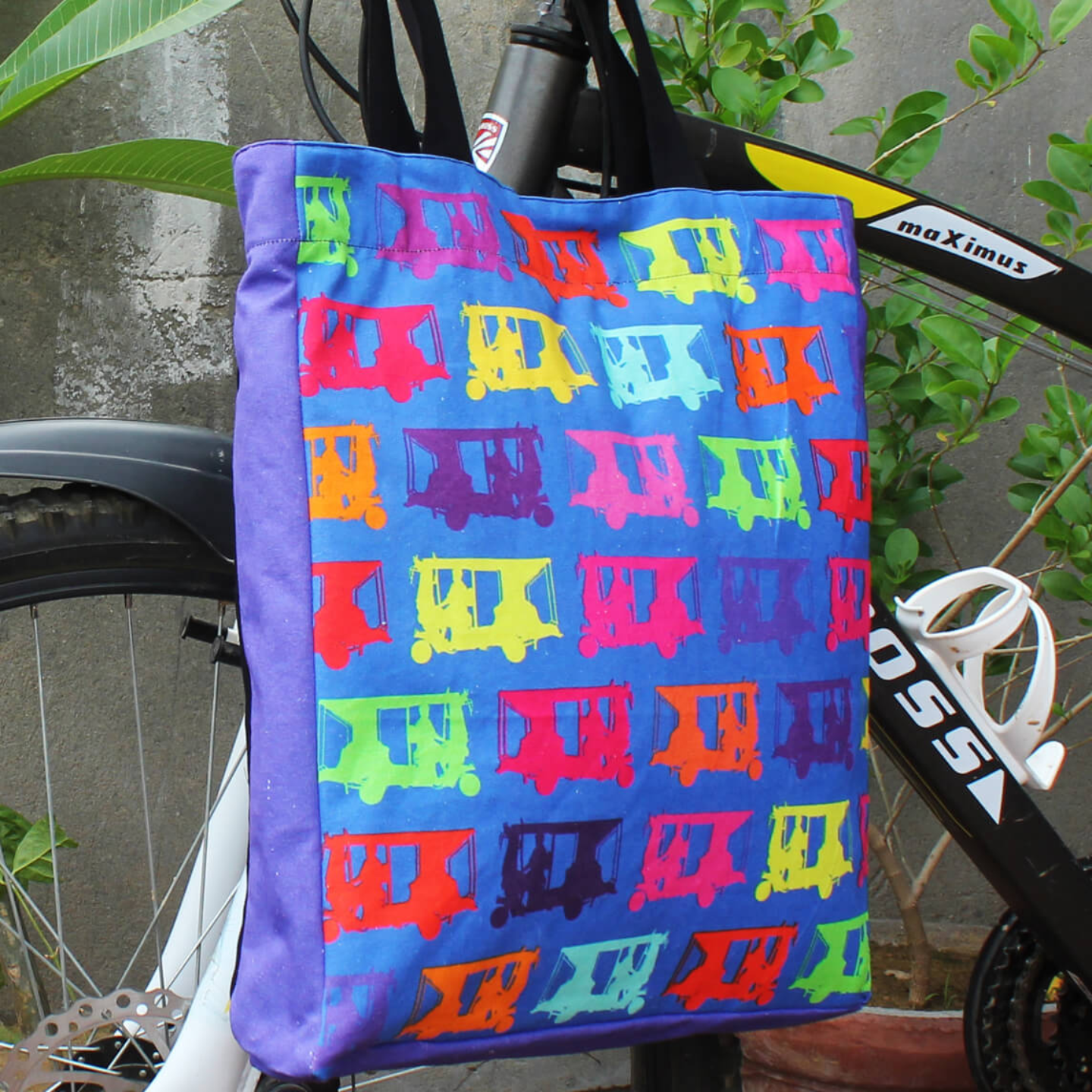 Multicolor Taxis Jhola BagShopping Bag