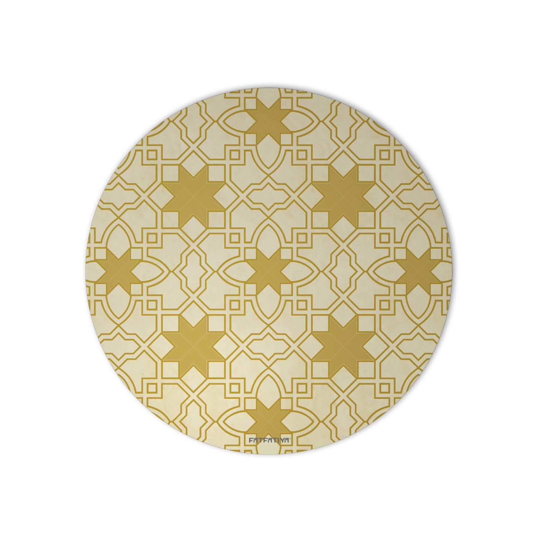 Rajasthani Jali Design Round Mouse Pad
