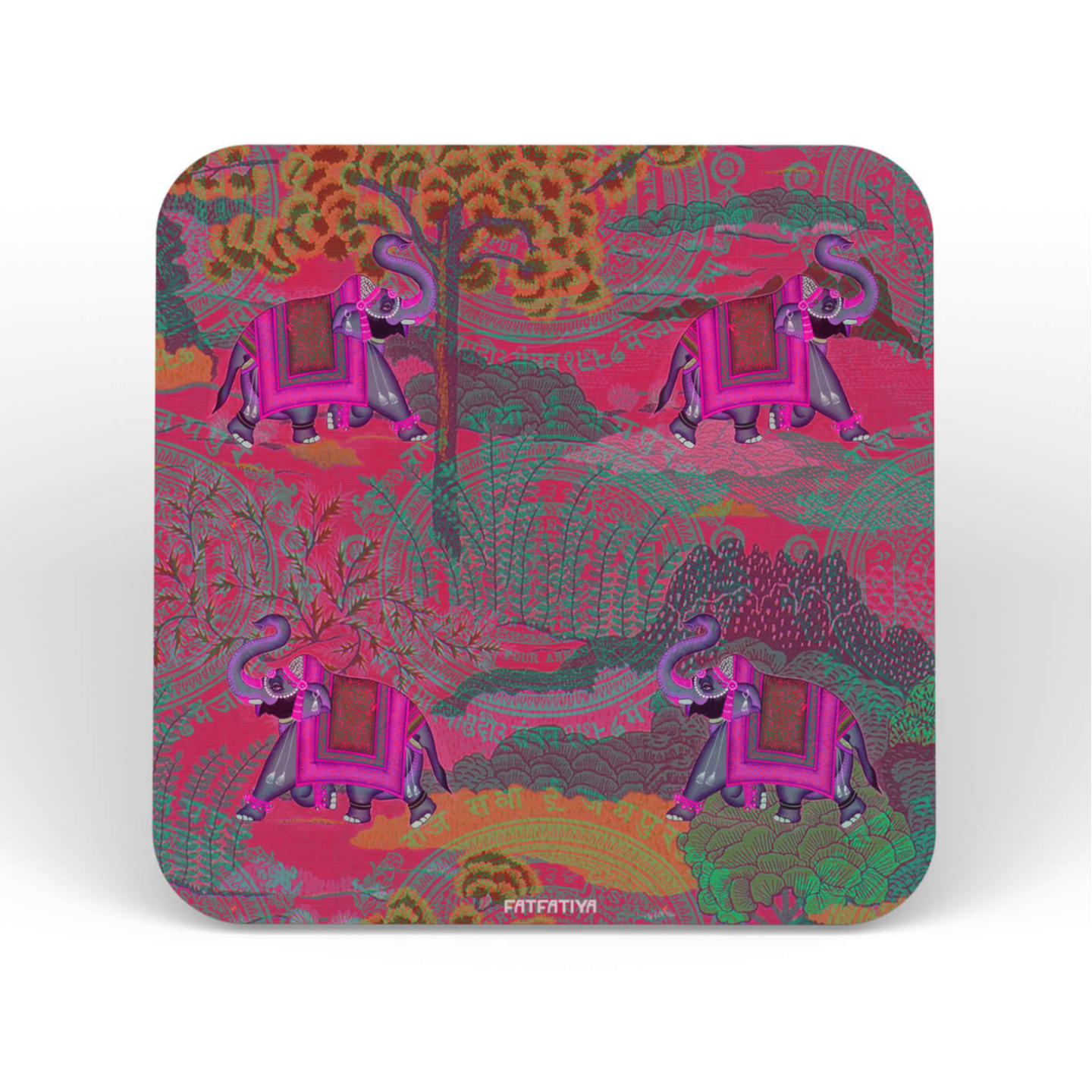 Shekhawati EleHathi Table Coaster Set of Six
