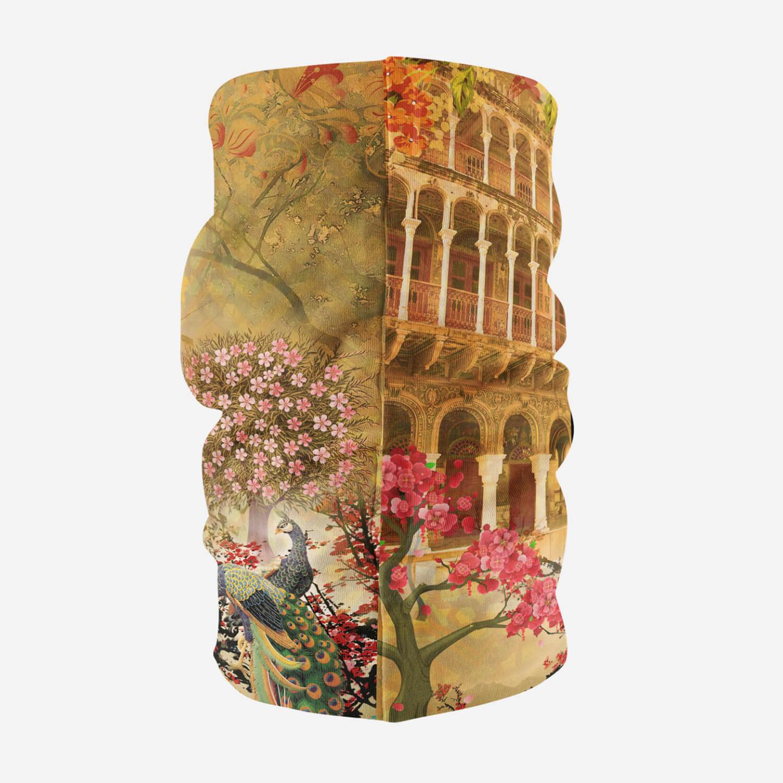 Historical Fort and Floral Unisex Bandana Mask