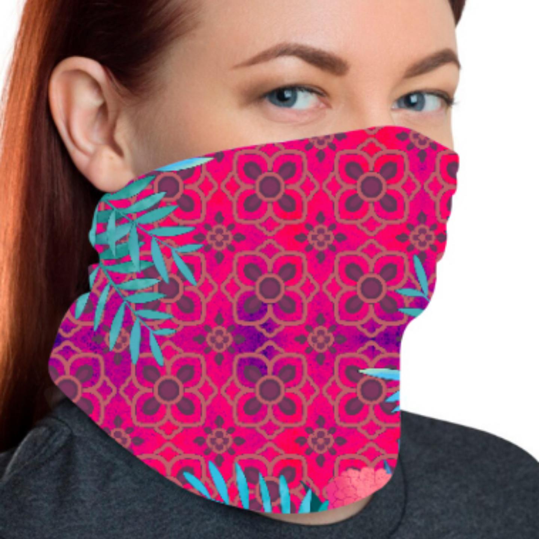 Abstract Flower Print  Unisex Bandana Mask