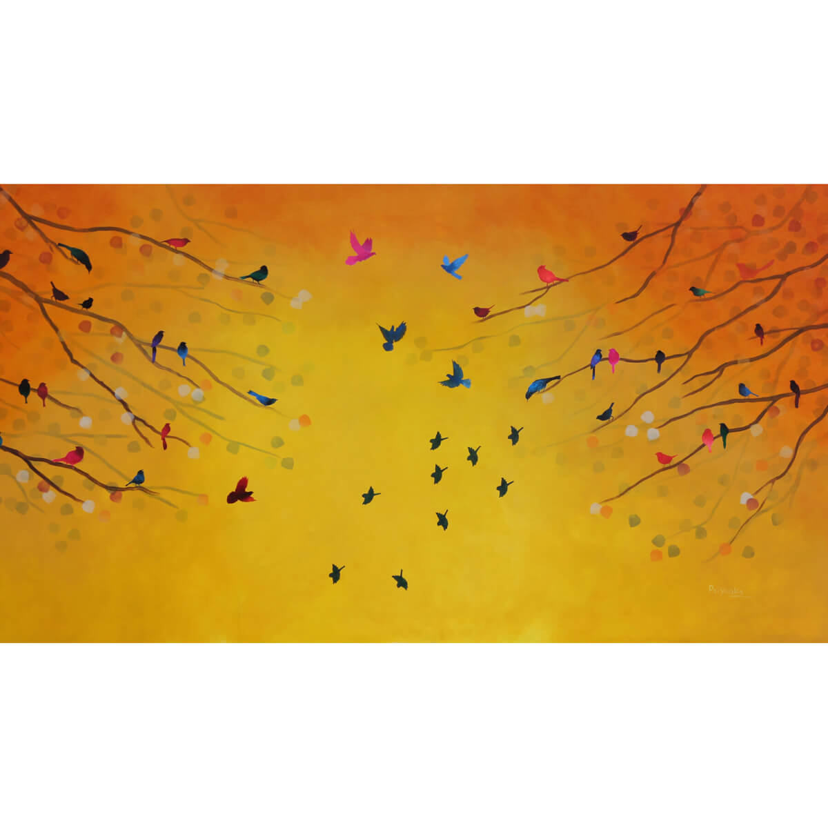Song from Autumn Reusable Face Mask - Priyanka Waghela