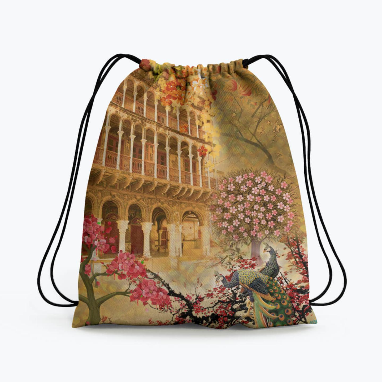 Shekhawati Haveli Drawstring Bag