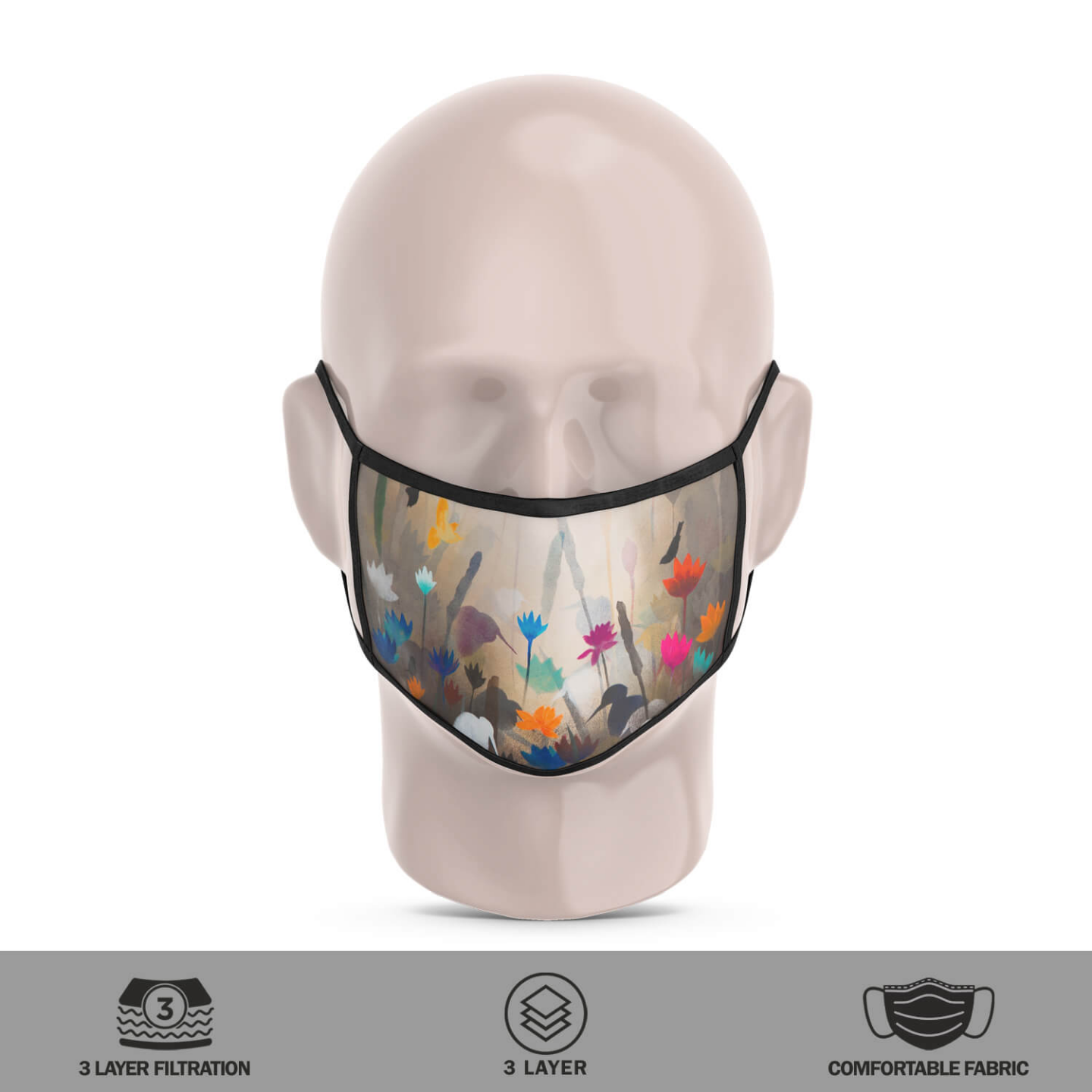 Song from Flower Reusable Face Mask - Priyanka Waghela