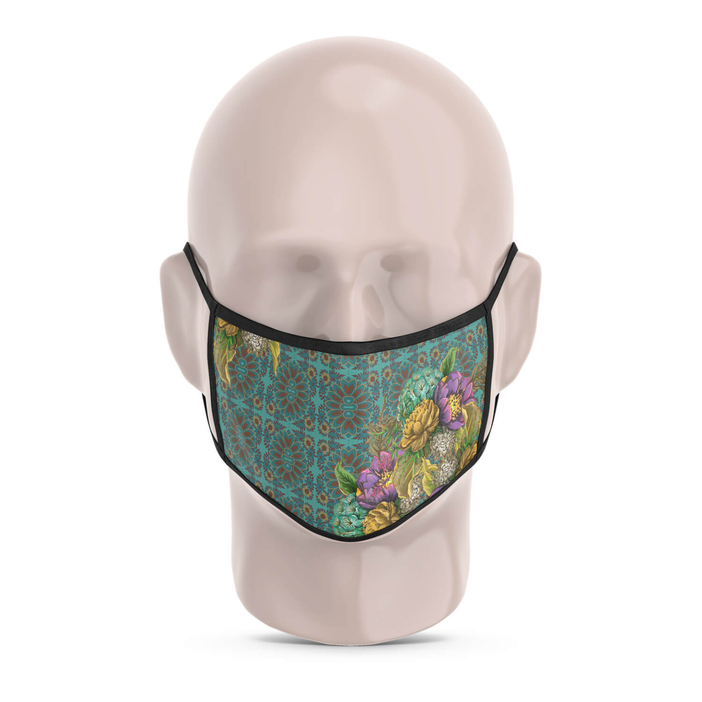 Geometric Design Flowery Reusable Printed Face Mask