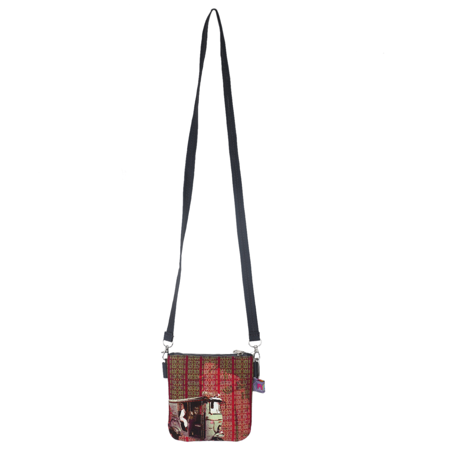Classic Taxi Designer Canvas PU Small  Sling Bag