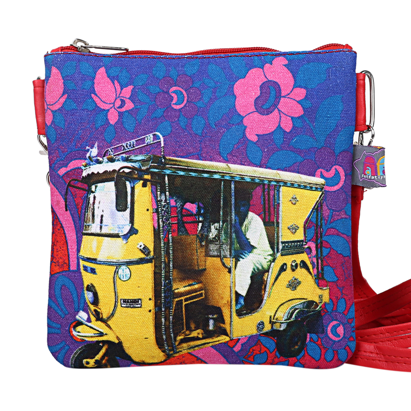 Shekhawati Auto Rickshaw Canvas PU Small  Sling Bag