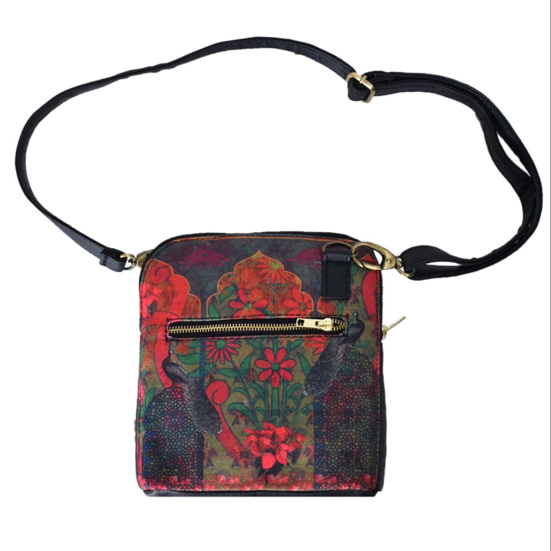 Colour Splash Flower Crossbody Bag For Women And Girls