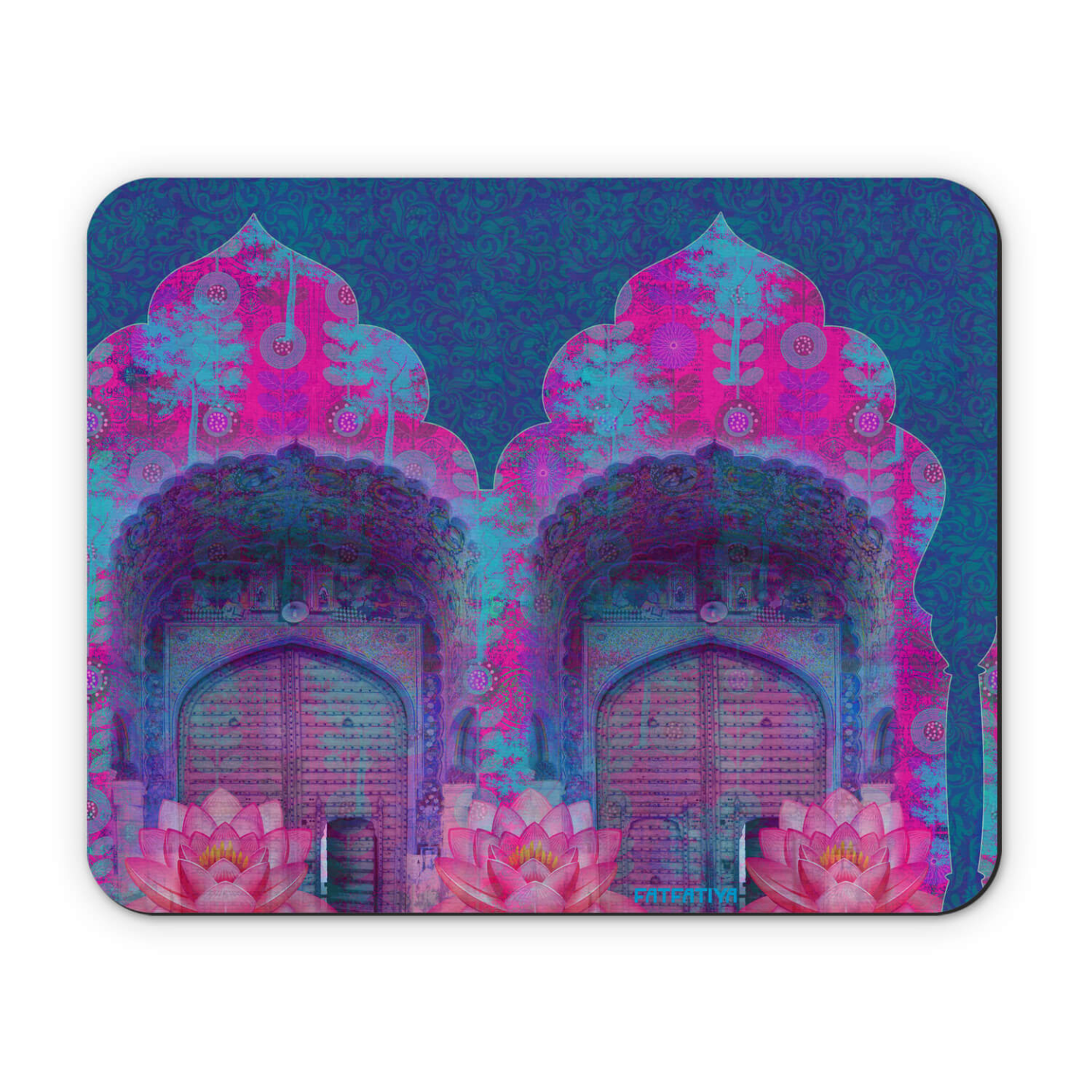 Cool Blue Rajasthani Door Mouse Pad
