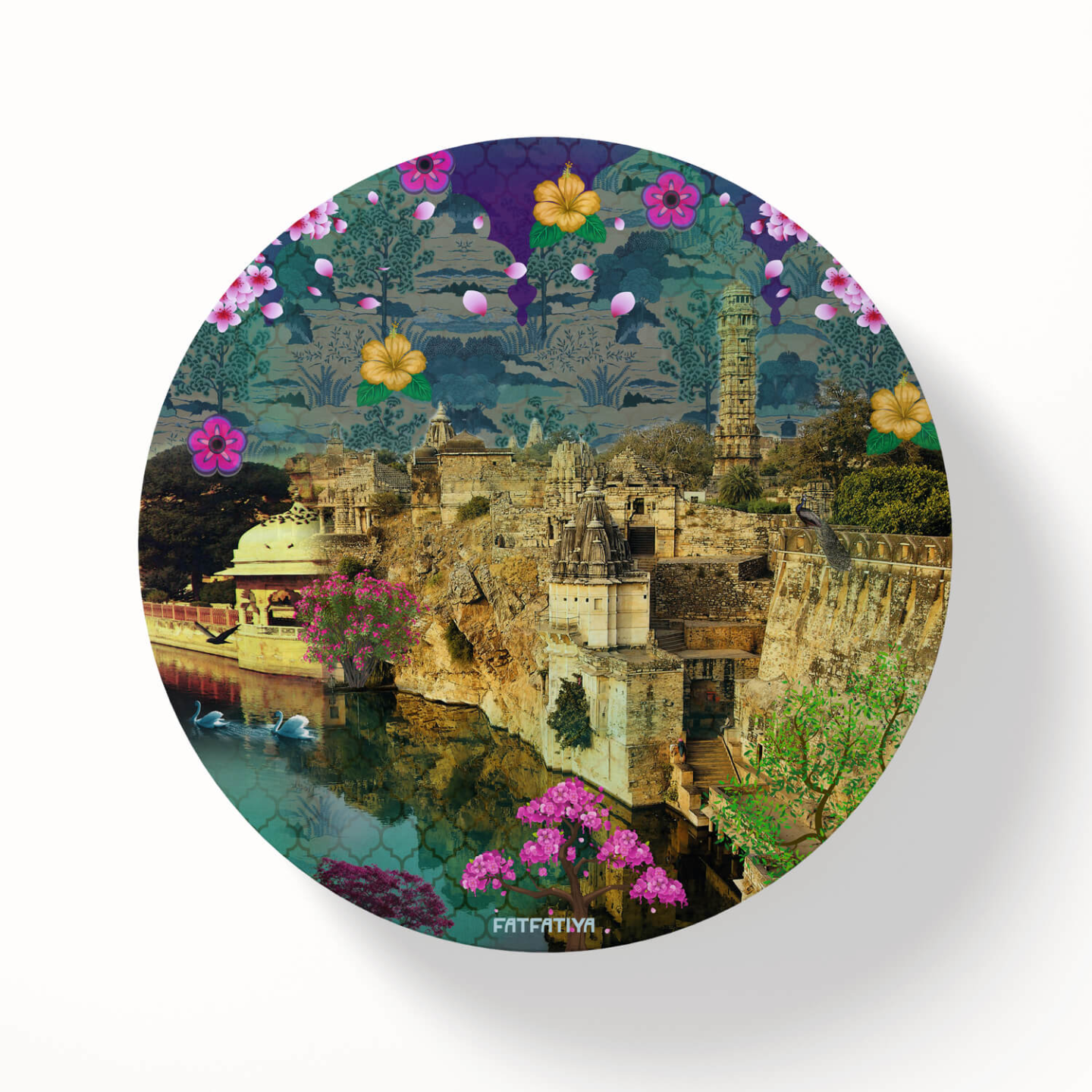 Rajasthani Fort Themed Table Coaster Set of Six
