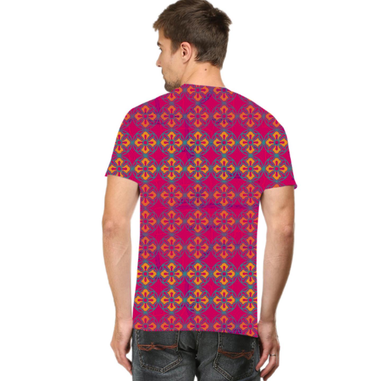 Men Sublime Flower Round Neck T-Shirt