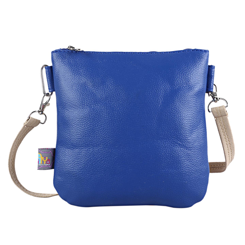 Lemon Yellow Auto Designer Canvas PU Small Sling Bag