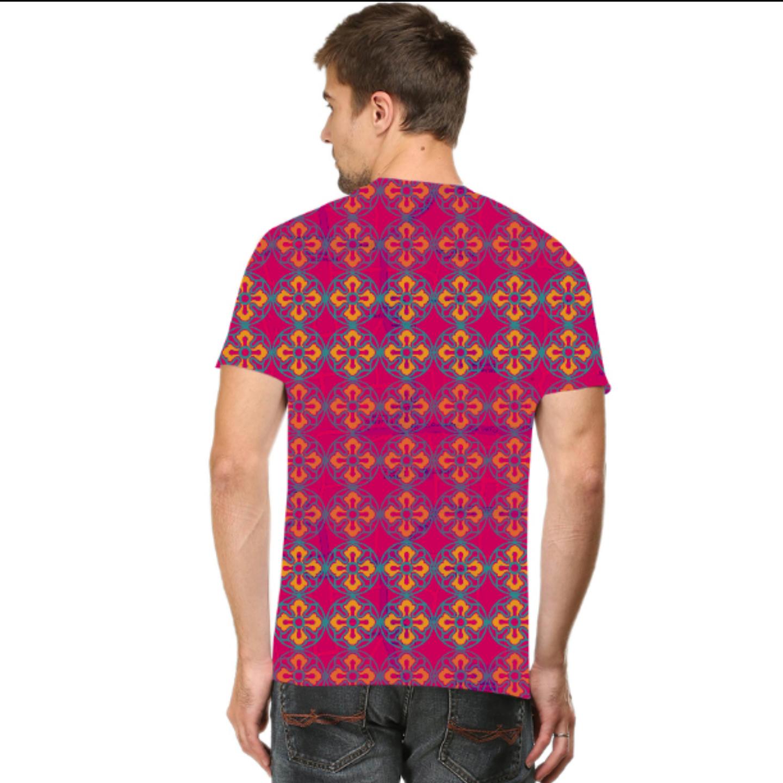 Men Sublime Flower T-Shirt Mask Combo
