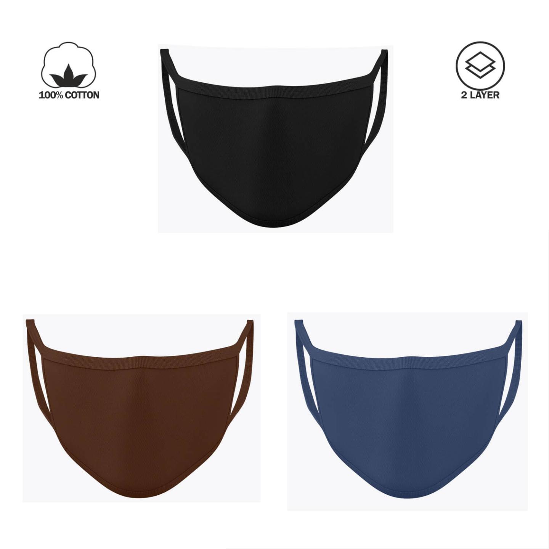 Plain Protective Reusable Face Masks