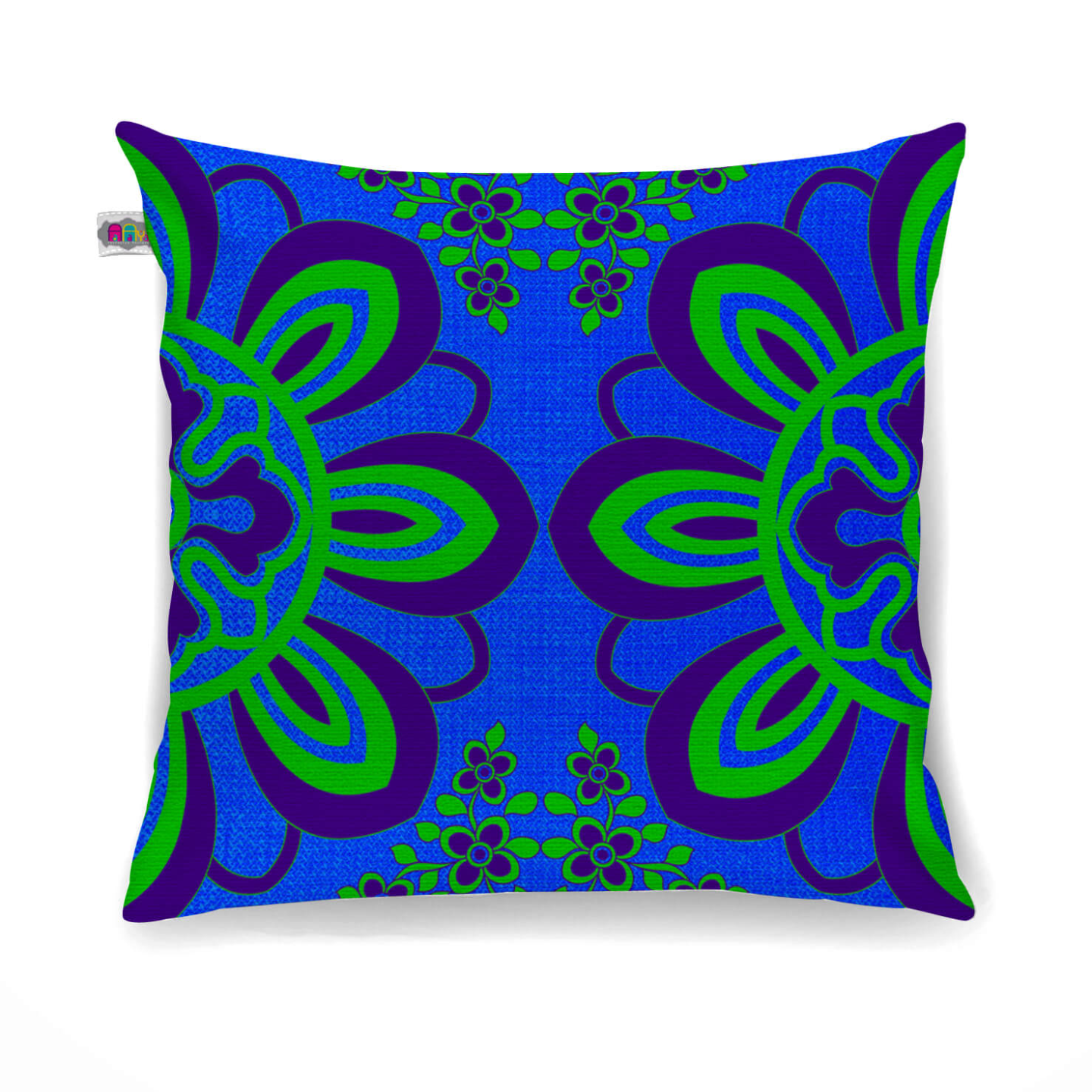 Flourishing Flower Motif Cushion Cover