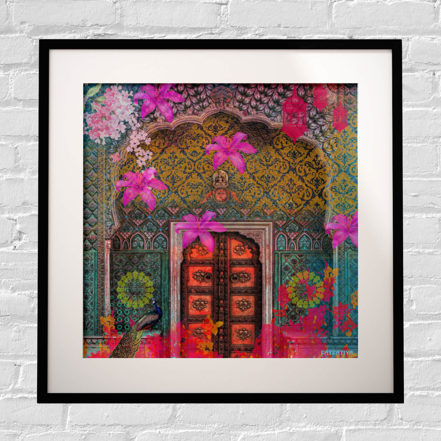 Pink Royal Door Design Framed Art Print