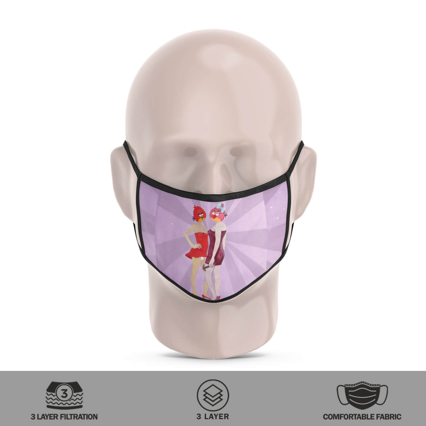 Angry Birds-2 Reusable Face Mask - Tushar Waghela