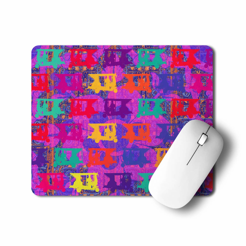 Vibrant Auto Rickshaws Mouse Pad