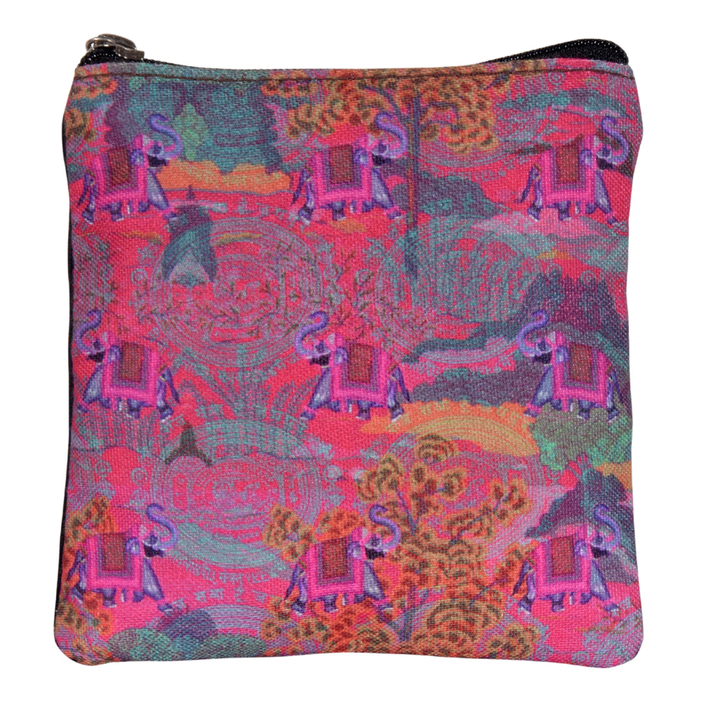 Rajasthani Haathi Poly Canvas Coin  pouch